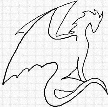Дракон лёгкий рисунок